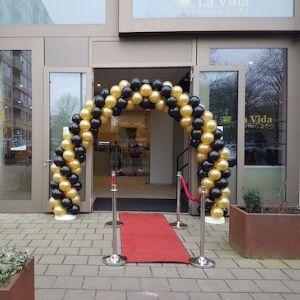 Ballonnenboog zwart-goud