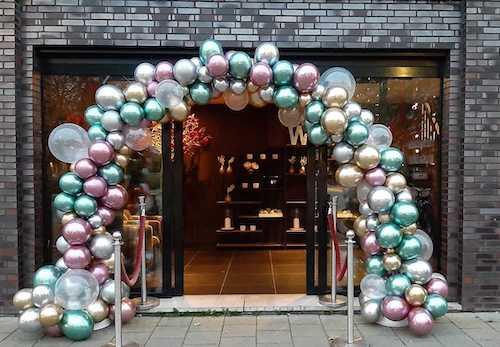 Ballonnenboog organic chrome ballonnen