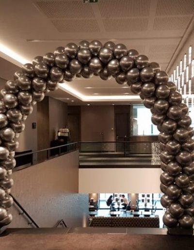 Ballonnenboog-zilver-chrome vd ValkUtrecht
