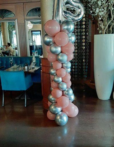 Ballonnenpilaar met cijfers