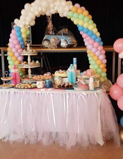Kado ballonnen tafel boog klein en beren