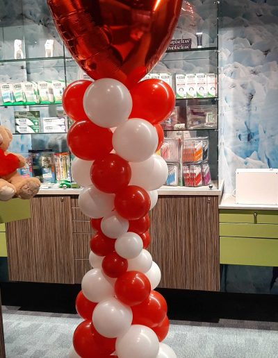 Ballonpilaar valentijn en moederdag